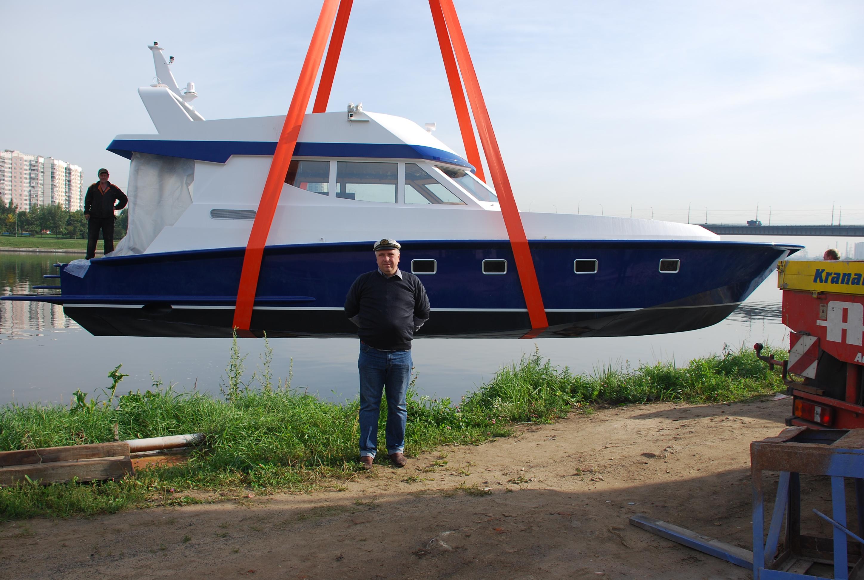Перед спуском лодки на воду